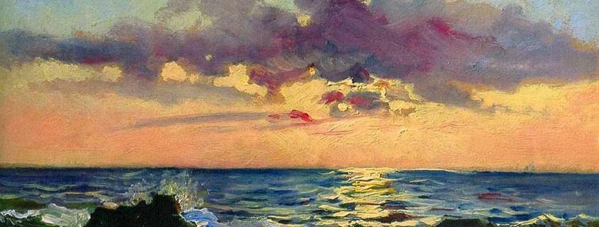Tramonto-sul-mare-a-Livorno-di-Nikolai-Ge-del-1862